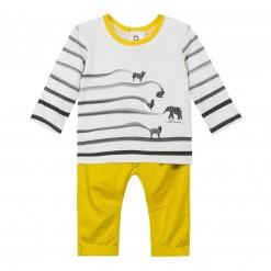Pre-Order Catimini AW15 BB Spirit City Ecru T-Shirt and Yellow Trousers
