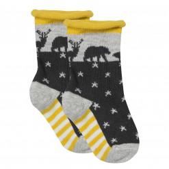 Pre-Order Catimini AW15 BB Spirit Dark Grey Animals & Stars Socks