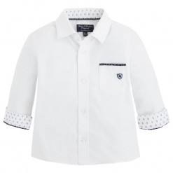 Pre-Order Mayoral AW15 Baby Boys White Oxford Shirt