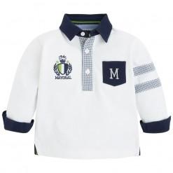 Pre-Order Mayoral AW15 Baby Boys Cream Polo Shirt
