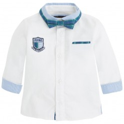 Pre-Order Mayoral AW15 Baby Boys White Shirt with Bow Tie
