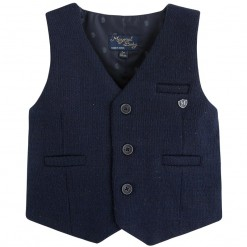 Pre-Order Mayoral AW15 Baby Boys Navy Blue Waistcoat