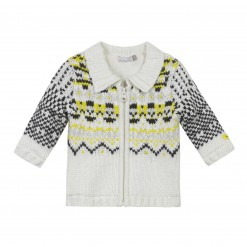 Pre-Order Catimini AW15 BB Spirit City Ecru Patterned Cardigan