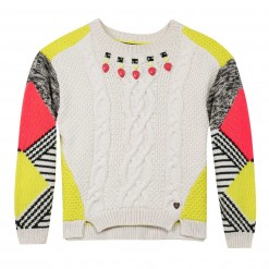 Pre-Order Catimini AW15 KF Urban Global Mix Vanilla Patterned Jumper