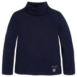 Pre-Order Mayoral AW15 Mini Girls Navy Blue High Neck Jumper
