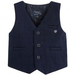 Pre-Order Mayoral AW15 Baby Boys Navy Blue Waistcoat