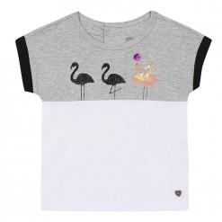 Pre-Order Catimini SS16 MG Urban Global Mix Grey & White T-Shirt
