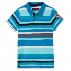 Pre-Order Catimini SS16 KG Spirit Lagoon Blue Striped Polo Shirt