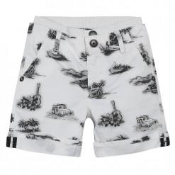 Pre-Order Catimini SS16 MB Urban Global Mix Ecru Printed Bermuda Shorts