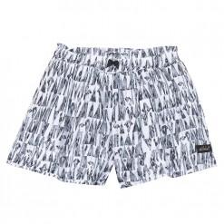 Pre-Order Catimini SS16 MG Urban Global Mix Black & Ecru Printed Shorts