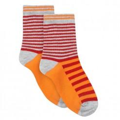 Pre-Order Catimini SS16 MB Urban Global Mix Fire Red Striped Socks
