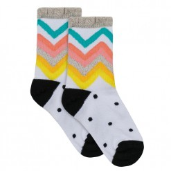 Pre-Order Catimini SS16 MG Urban Global Mix White Patterned Socks