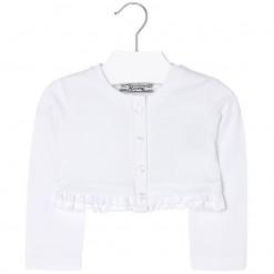 Mayoral SS16 Toddler Girls White Cropped Cardigan