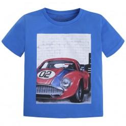 Mayoral SS16 Mini Boys Royal Blue Car Print T-Shirt