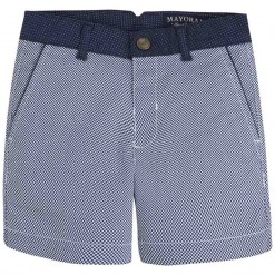 Mayoral SS16 Mini Boys Navy Blue Micro-Check Shorts