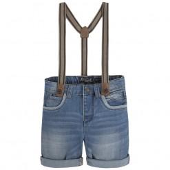 Mayoral SS16 Mini Boys Blue Denim Shorts with Braces