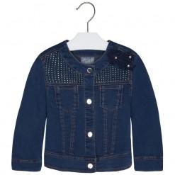 Mayoral SS16 Mini Girls Indigo Blue Denim Jacket