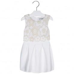 Mayoral SS16 Mini Girls Ecru Tulle Dress