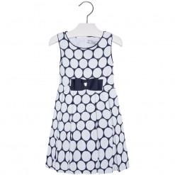 Mayoral SS16 Mini Girls Navy & White Spots Dress