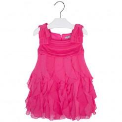 Mayoral SS16 Mini Girls Fuchsia Ruffle Dress
