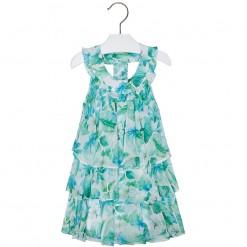 Mayoral SS16 Mini Girls Apple Green Flower Dress