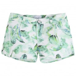 Mayoral SS16 Older Girls Apple Green Print Shorts