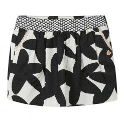 Pre-Order Catimini AW16 MG Graphic City Vanilla & Black Flower Print Skirt