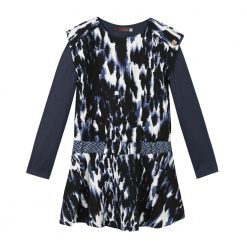 Pre-Order Catimini AW16 KF Ethno City Ink Blue Patterned Dress