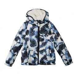 Pre-Order Catimini AW16 KF Ethno City Ecru & Indigo Patterned Coat