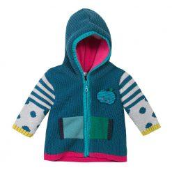 Pre-Order Catimini AW16 BG Pop Teal Blue Knitted Coat