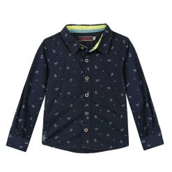 Pre-Order Catimini AW16 MB Pop Navy Blue Patterned Shirt