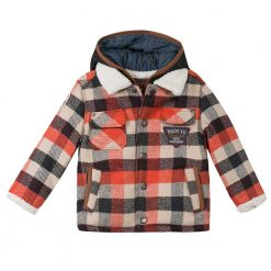 Pre-Order Catimini AW16 MB Nomade Fire Red Check Coat
