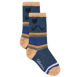 Pre-Order Catimini AW16 MB Ethno City Blue and Yellow Socks